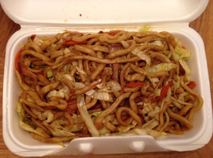 Pork Fried Noodle at Oriental Palace in Invermere, BC
